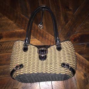 Brighton straw satchel